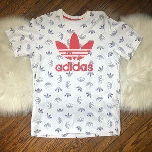 RARE Adidas Men's Trefoil Signature White T Shirt